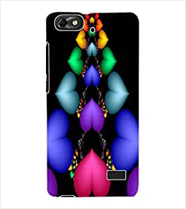 ColourCraft Love Colourful Hearts Design Back Case Cover for HUAWEI HONOR 4C