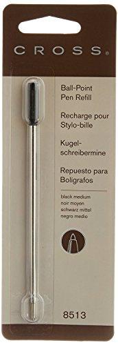CROSS Lot de 10 Recharges pour stylo à bille pointe moyenne encre noire