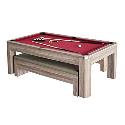 Carmelli Newport 7' Pool Table Set with Benches