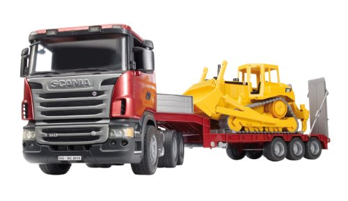 Bruder 3555 Scania R-Series Low Loader Truck