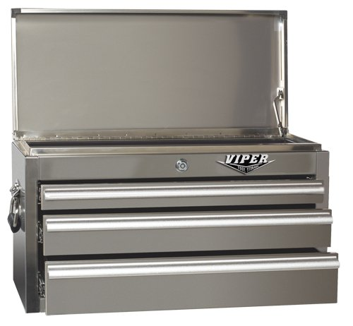 Images for Viper Tool Storage V2603SSC 26-Inch 3-Drawer 304 Stainless Steel Top Chest