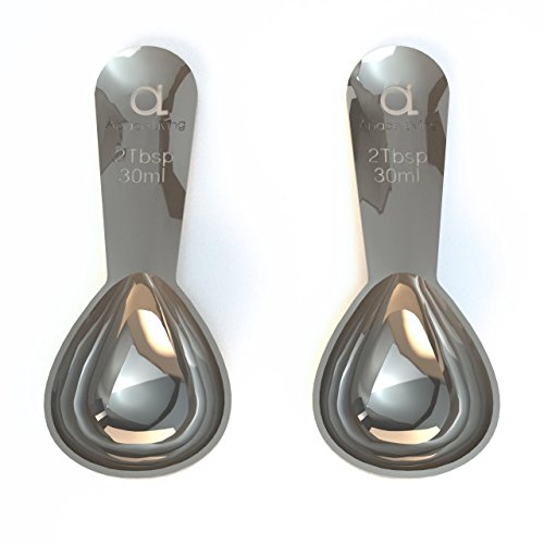 Premium Coffee Scoop (Set of 2) - 2 Tablespoon (Tbsp) - The Best Stainless Steel Measuring Spoons for Coffee, Tea, and More (Kureg Coffee Expresso compare prices)