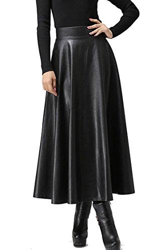 zeagoo-women-winter-pu-leather-high-waist-midi-maxi-long-a-line-skirt-in-black-type-1-large