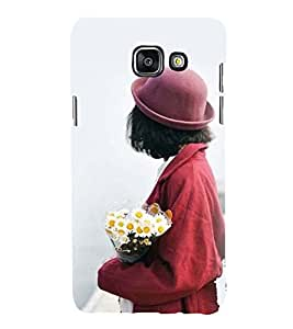 Printvisa Premium Back Cover A Girl With A Bouquet Design For Samsung Galaxy A7 (2016)::Samsung Galaxy A7 (2016) Duos with dual-SIM card slots