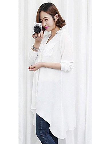 ZXR-femmes-Casual-sexy-avec-imprim-T-shirt--manches-longues-pour-homme-en-mousseline-de-soie