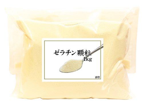 ゼラチン顆粒1kg 粉体顆粒 国産 豚皮由来