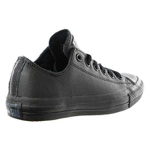 CONVERSE Unisex Chuck Taylor All Star Ox Fashion Sneaker Leather Shoe - Black Mono - Mens - 9.5
