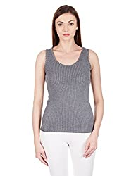 Femella Women's Body Blouse Shirt (DS-210164/309/GRY/XL_Grey_X-Large)