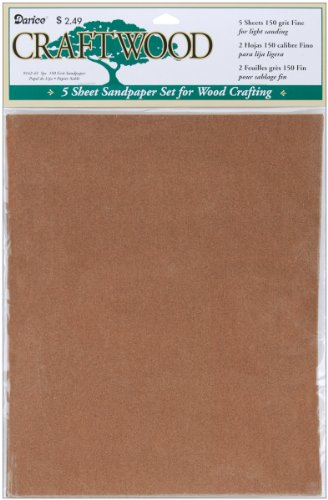Darice Sandpaper, 9 by 11-Inch, 5-Pack