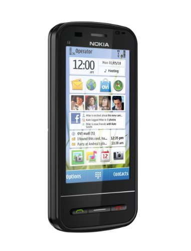 Nokia C6 Unlocked GSM Phone with Easy E-mail Setup, Side-Sliding Touchscreen, QWERTY, 5 MP Camera, and Free Ovi Maps Navigation (Black)