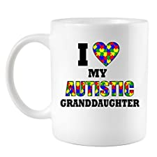 I Love My Autistic Granddaughter Autism Coffee Mug