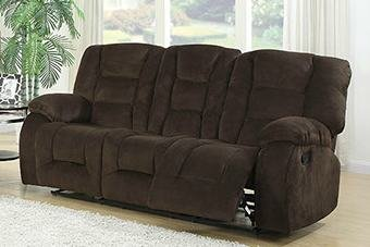 AC Pacific Jackson Brown Reclining Sofa