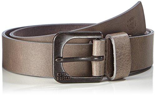 G-STAR RAW - Zed belt, Cintura uomo, Gs Grey/raw Brown 5897, 100