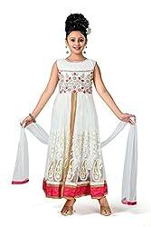 Aarika Self Design Lehenga Choli, Palazzo and Dupatta Set- White & Red