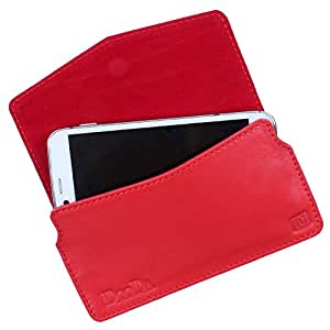 Dooda Genuine Leather Pouch Case For Lenovo S580 (RED)