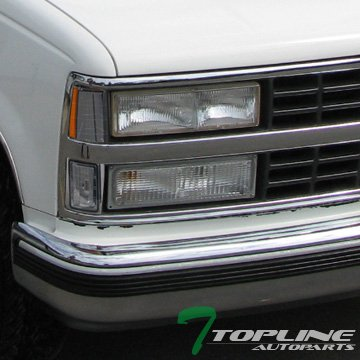 Topline Autopart Smoke Amber Lens Signal Parking Corner Light Lamp 94-00 Chevy C10 C/K Pickup/Suv
