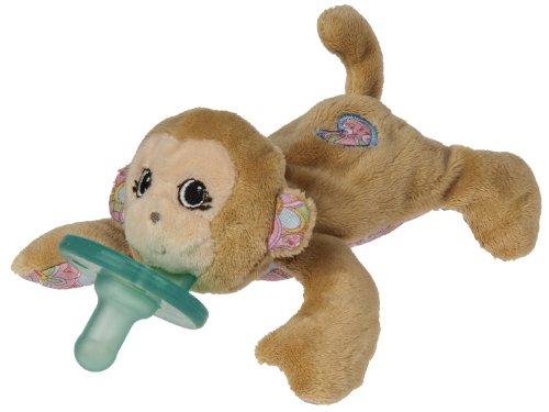 Wubbanub Maddie Wubbanub Plush Pacifier, Monkey front-1061741
