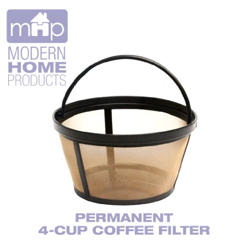 Permanent 4-Cup Basket Shape Gold Tone Coffee