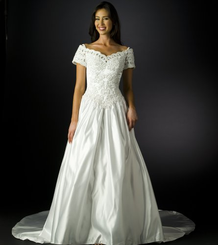 Wedding Dress Gown - Bridal Gown, Informal Bridal Gown, Ball gown by Formal Gallery (B8022) White