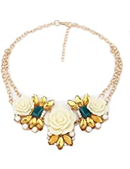 Ocean High-quality New Arrival Maxi Big Rose Flower Pendant Necklaces Zinc Alloy Link Necklace Fashion Jewelry...