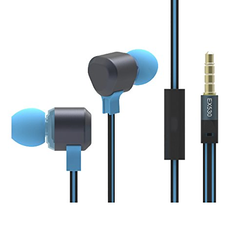 Snc (Tm) In-Ear 3.5Mm Earphone Headphone Headset Earbuds With Mic For Cellphone Smartphone Tablet Notebook Laptop Mp3 Pc (Ep01-Blue)
