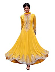 Salwar Studio Womens Georgette Lace Suit Piece Salwar Suit