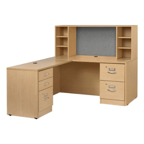 Norwood Commercial Furniture Norwood Series L-Shaped Workstation w/ Open Hutch (60