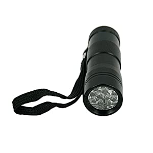 395 nM UV Ultra Violet 21 LED Blacklight Flashlight, by LEDwholesalers 7305UV395