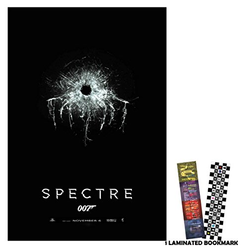 "Spectre 007 (2015) - Bullet Hole - Movie Poster Reprint 13"" x 19"" Borderless + FREE 1 Laminated Bookmark"
