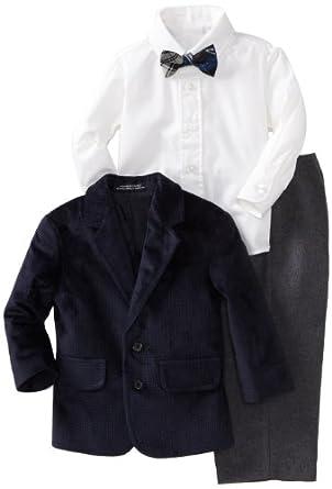 Nautica Dress Up Baby-boys Infant Suit Set, Sailblue, 12 Months