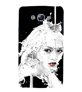 printtech Beautiful Girl Milky Design Back Case Cover for Samsung Galaxy J7 (2016 EDITION)