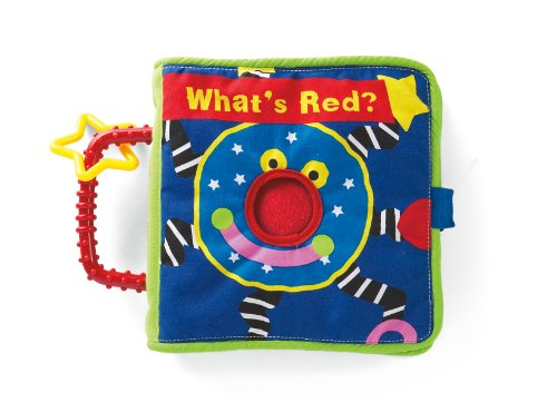 "Manhattan Toy Whoozit ""What's Red?"" Soft Activity and Discovery Book - 1"
