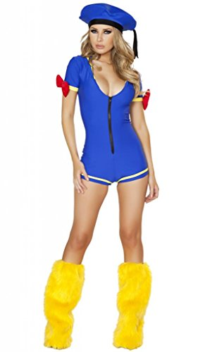 Sexy Pin Up Donald Duck Romper Halloween Costume front-28859