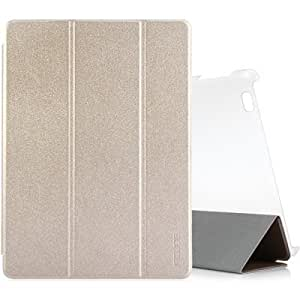 Fashion Leather Case Plastic Cover for Cube T9 Tablet PC with Stand Function - CHAMPAGNE
