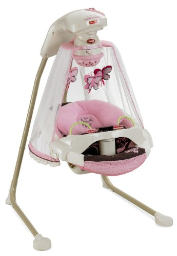 New Fisher-Price Papasan Cradle Swing, Mocha Butterfly
