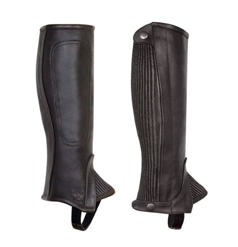 Perri's Children's Professional Half Chaps, Black, Large