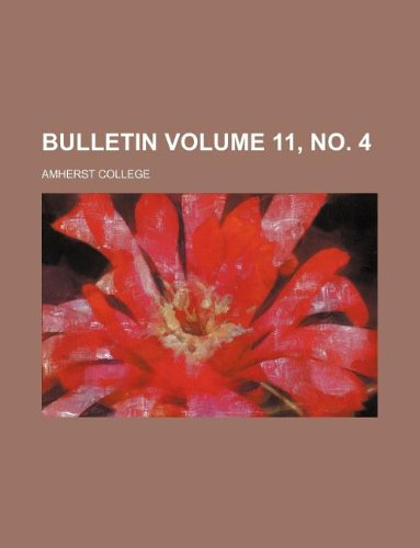 Bulletin Volume 11, no. 4