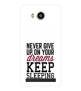 EPICCASE Sleep forever Mobile Back Case Cover For LENOVO A7700 (Designer Case)