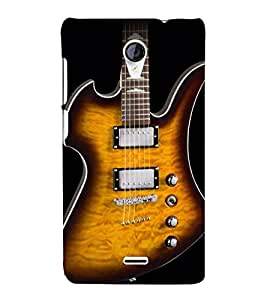 Lighting Guitar Strings 3D Hard Polycarbonate Designer Back Case Cover for Micromax Canvas Unite 2 A106
