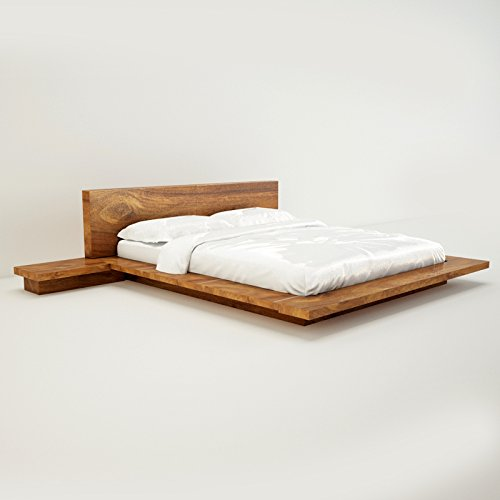 Amaani Furniture's Solid Wood Queen Size Bed (Natural Wood)