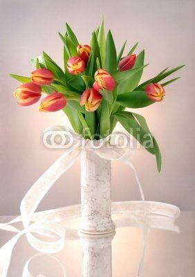 Spring Tulips Bouquet in Vase