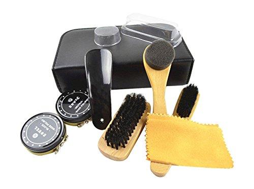 Portable Brush Shine Care Kit Leather Boots Shoes