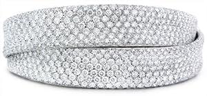 Leo Pizzo Diamond 18k White Gold Bangle Bracelet