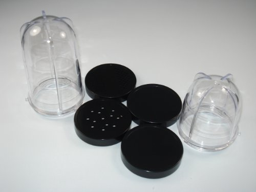 2-Replacement-Mixing-Cups-and-4-Lids-compatible-with-Magic-Bullet
