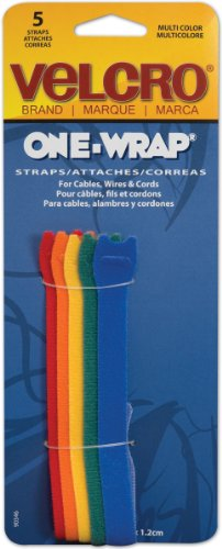 Find Discount Velcro(R) brand Get-A-Grip(R) Straps 1/2 Inch x8 Inch 5/Pkg Multi-Colored