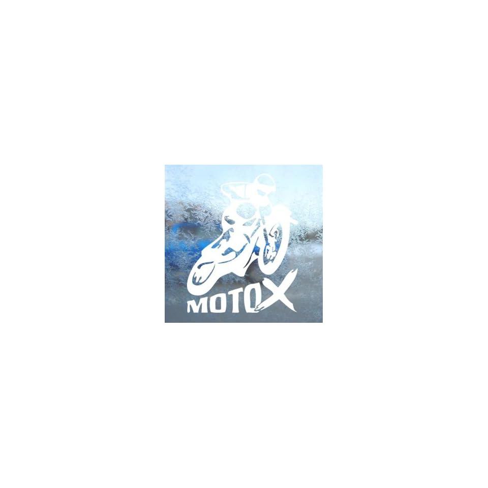 X GAMES MOTO X White Decal Car Laptop Window Vinyl White Sticker