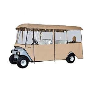 Classic Accessories Fairway Deluxe 4-Sided 4-Person Golf Cart Enclosure, Tan by Classic Accessories