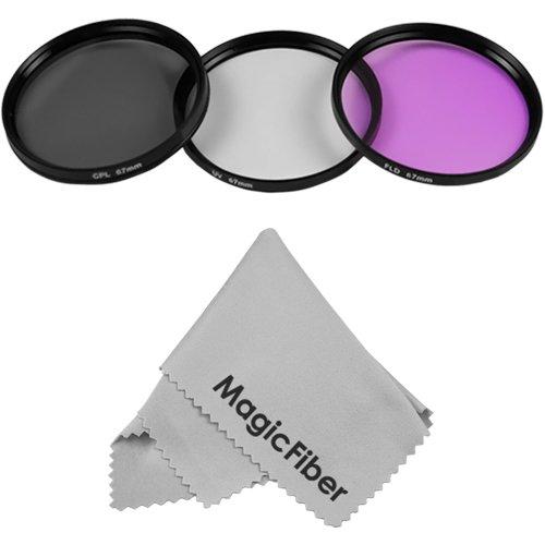 67Mm Filter Kit For Nikon D90 18-105Mm Vr Dx Lens + Carry Case + Premium Magicfiber Microfiber Lens Cloth