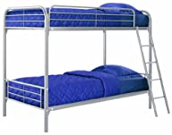 DHP Twin Over Twin, Metal Bunk Bed -…