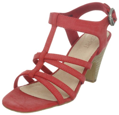 ESPRIT Womens Dione Sandal Fashion Sandals Red Rot (dark fire red 600) Size: 8 (42 EU)